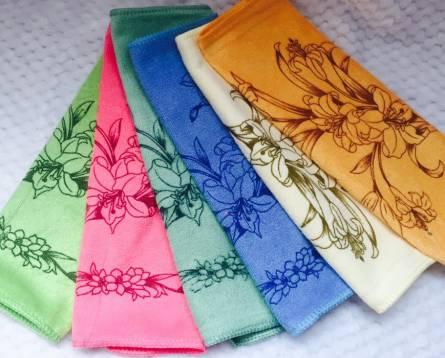 Полотенца для рук Микрофибра лилия - фото 2