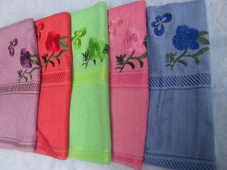 Полотенце с розой - фото 2