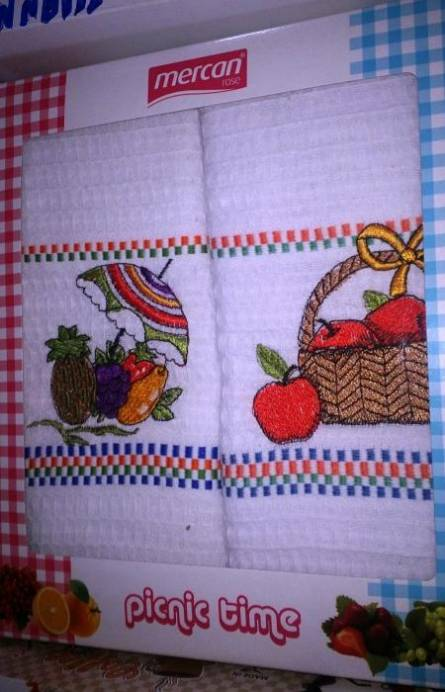 Фото  товара Вафельные кухонные полотенца Пикник
