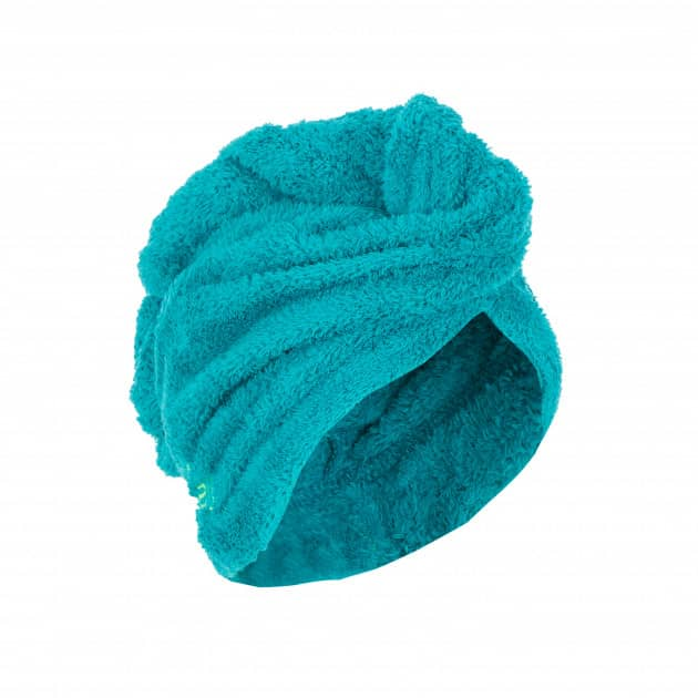 Полотенце для волос бирюзовое